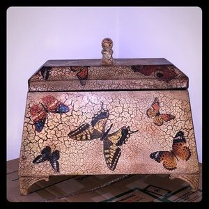 Butterfly Metal Decorative Box